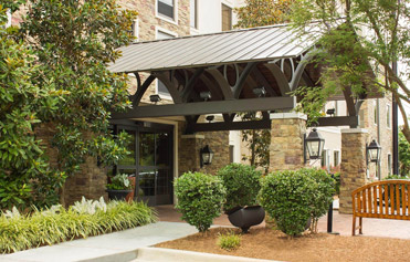 Well maintained multifamily property entrance